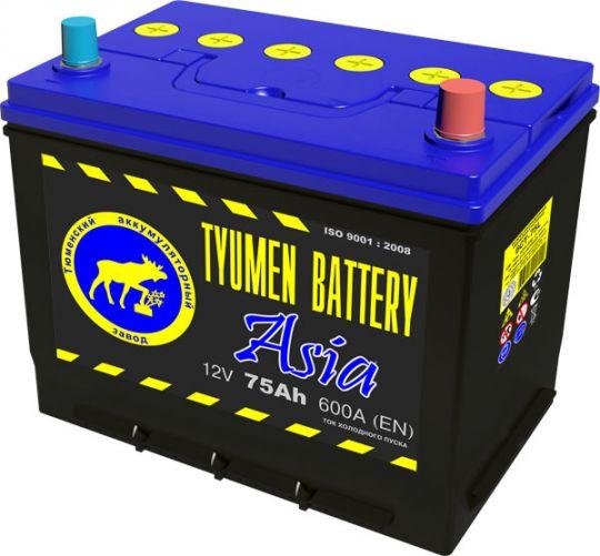 Автомобильный аккумулятор АКБ Тюмень (TYUMEN BATTERY) ASIA 6CT-75L 75Aч О.П. нижнее крепление