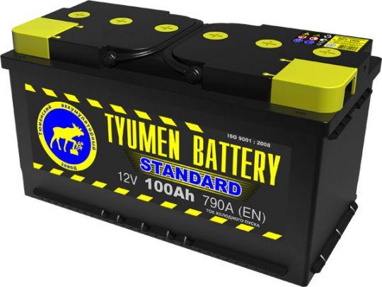 Автомобильный аккумулятор АКБ Тюмень (TYUMEN BATTERY) STANDARD  6CT-100L 100Aч О.П.