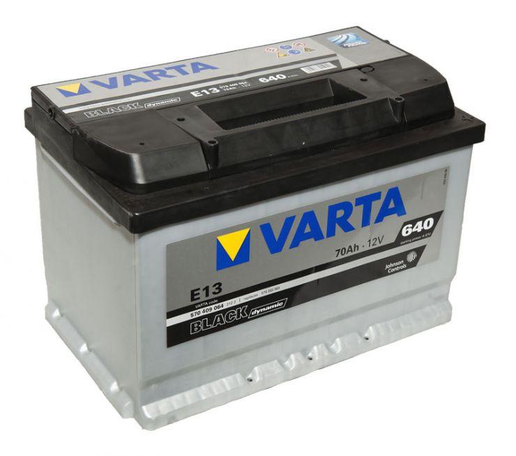 Автомобильный аккумулятор АКБ VARTA (ВАРТА) Black Dynamic 570 409 064 E13 70Ач