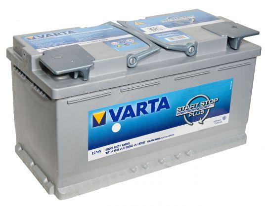Автомобильный аккумулятор АКБ VARTA (ВАРТА) Start-Stop Plus Silver Dynamic AGM 595 901 085 G14 95Ач ОП