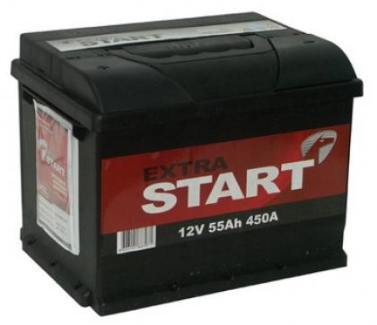 Автомобильный аккумулятор АКБ Extra START (Экстра Старт) 6CT-55 55Ач п.п.
