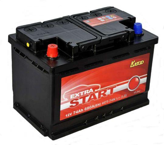 Автомобильный аккумулятор АКБ Extra START (Экстра Старт) 6CT-74 74Ач о.п.