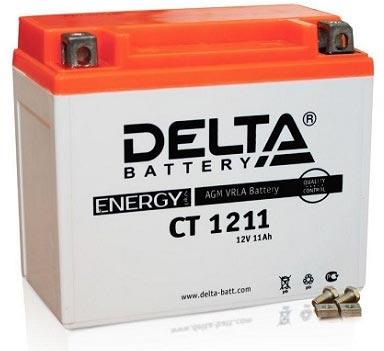 Мото аккумулятор АКБ Delta (Дельта) CT 1211 п.п. YTZ12S, YTZ14S