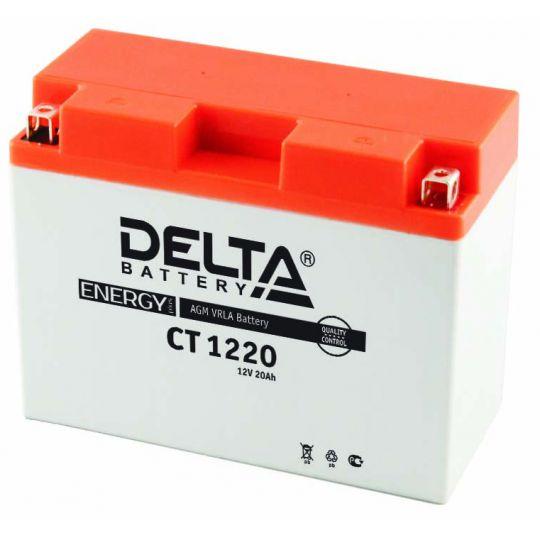 Мото аккумулятор АКБ Delta (Дельта) CT 1220 о.п. Y50-N18L-A, Y50-N18L-A3