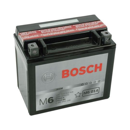 Мото аккумулятор АКБ BOSCH (БОШ) M60 140 / M6 014 moba 12V 510 012 009 A504 AGM 10Ач п.п. (YTX12-4/YTX12-BS)