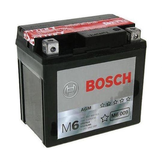 Мото аккумулятор АКБ BOSCH (БОШ) M60 090 / M6 009 moba 12V 507 902 011 A504 AGM 5Ач о.п. (TTZ7S-4, TTZ7S-BS)
