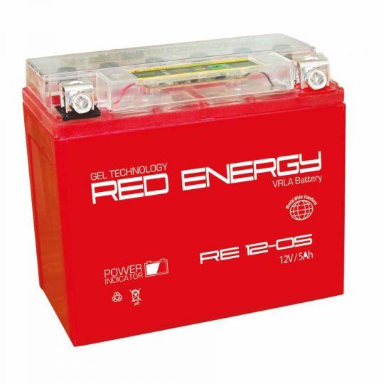 Аккумуляторная батарея АКБ RED ENERGY (РЭД ЭНЕРДЖИ) GEL RE 1205 YTX5L-BS, YTZ7S 5Ач о.п.