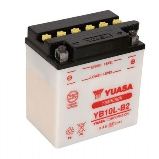Мото аккумулятор АКБ YUASA (Юаса) YB10L-B2 11Ач о.п.