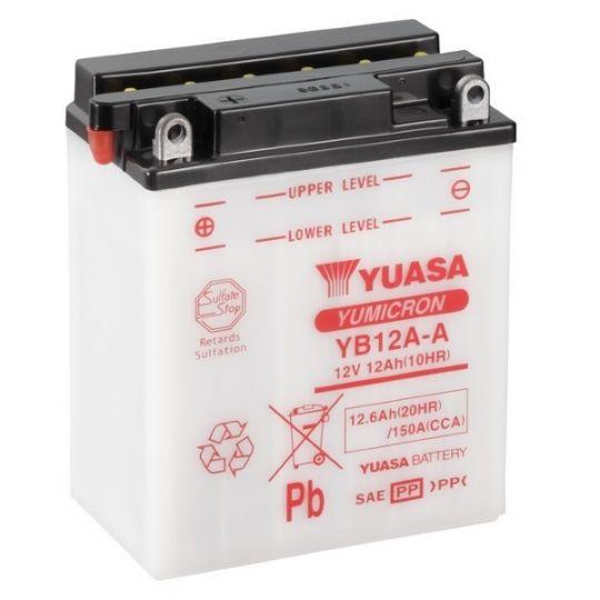Мото аккумулятор АКБ YUASA (Юаса) YB12A-A 12Ач п.п.