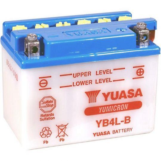 Мото аккумулятор АКБ YUASA (Юаса) YB4L-B 4Ач о.п.