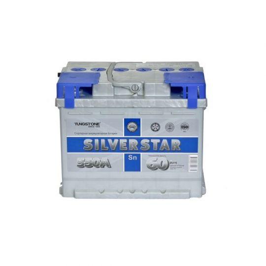 Автомобильный аккумулятор АКБ SilverStar (Сильвер Стар) 6СТ-60 L 60Ач п.п.