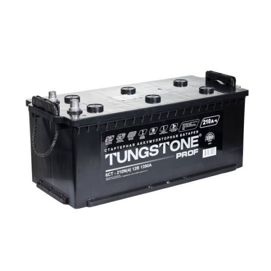 Автомобильный аккумулятор Tungstone Prof (Тангстоун Проф) 6СТ-210 N 210Ач О.П. (3) (евро)