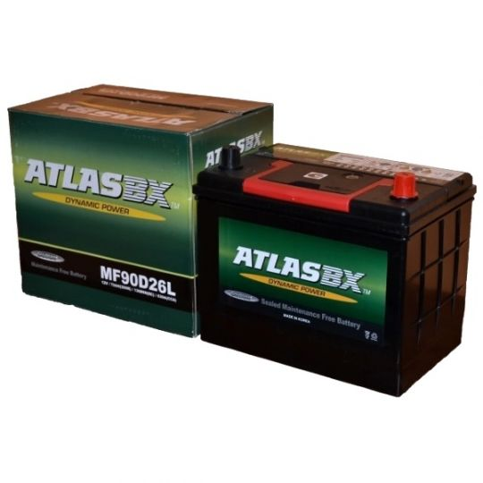 Автомобильный аккумулятор АКБ ATLAS (Атлас) MF90D26L 72Ач о.п.
