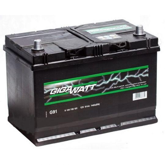 Автомобильный аккумулятор АКБ GigaWatt (Гигават) G91R 591 400 074 91Ач о.п.