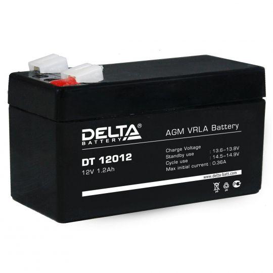 Аккумулятор свинцово-кислотный АКБ DELTA (Дельта) DT 12012 12 Вольт 1.2 Ач