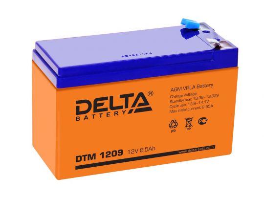 Аккумулятор свинцово-кислотный АКБ DELTA (Дельта) DTM 1209 12 Вольт 9 Ач