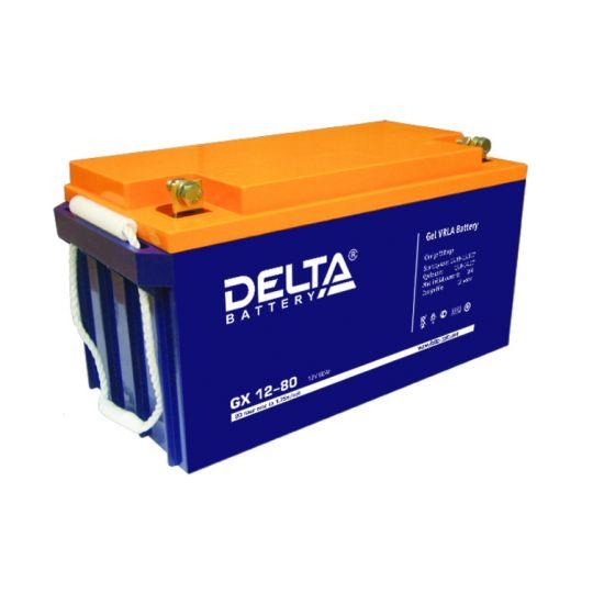 Аккумулятор свинцово-кислотный АКБ DELTA (Дельта) GX 12-80 12 Вольт 80 Ач (Gel)