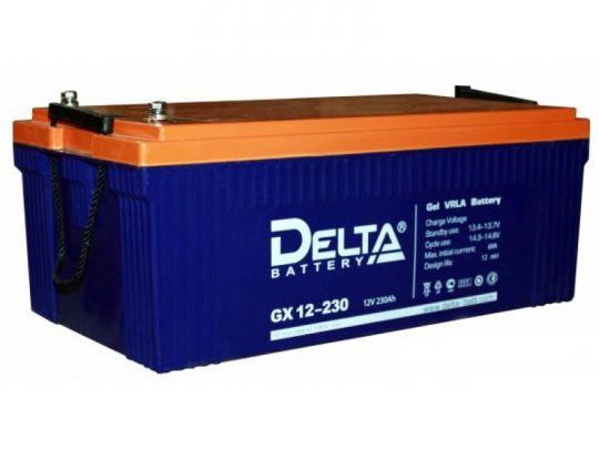 Аккумулятор свинцово-кислотный АКБ DELTA (Дельта) GX 12-230 12 Вольт 230 Ач (Gel)