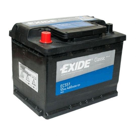 Автомобильный аккумулятор АКБ Exide (Эксайд) Classic EC551 55Ач п.п.