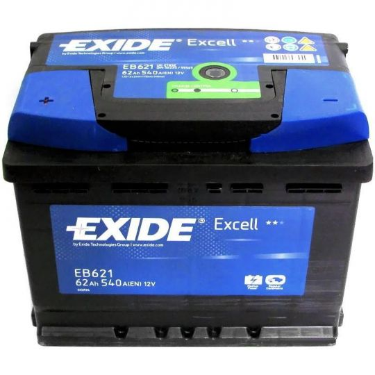 Автомобильный аккумулятор АКБ Exide (Эксайд) Excell EB621 62Ач п.п.