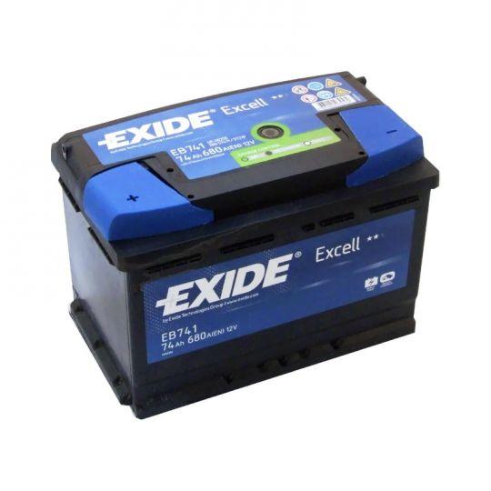 Автомобильный аккумулятор АКБ Exide (Эксайд) Excell EB741 74Ач п.п.