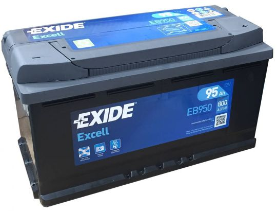 Автомобильный аккумулятор АКБ Exide (Эксайд) Excell EB950 95Ач о.п.