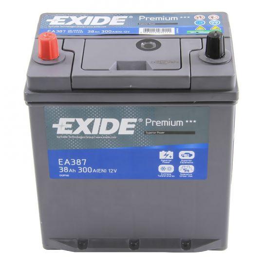 Автомобильный аккумулятор АКБ Exide (Эксайд) Premium EA387 38Ач п.п.