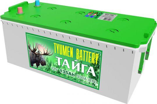 Автомобильный аккумулятор АКБ Тюмень (TYUMEN BATTERY) ТАЙГА  6СТ-135L 135Aч П.П.