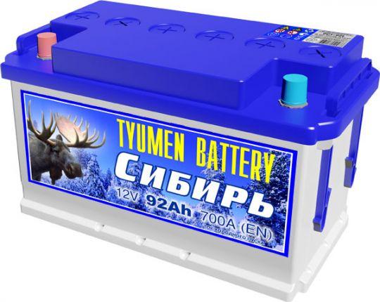 Автомобильный аккумулятор АКБ Тюмень (TYUMEN BATTERY) СИБИРЬ 6CT-92L 92Aч П.П.