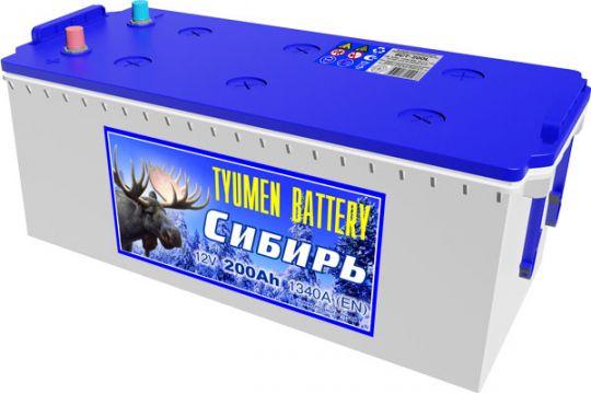 Автомобильный аккумулятор АКБ Тюмень (TUMEN BATTERY) СИБИРЬ 6CT-200L 200Aч П.П.