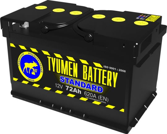 Автомобильный аккумулятор АКБ Тюмень (TYUMEN BATTERY) STANDARD 6CT-72L 72Aч О.П.