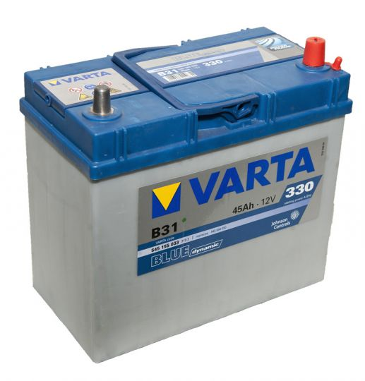 Автомобильный аккумулятор АКБ VARTA (ВАРТА) Blue Dynamic 545 155 033 B31 45Ач узкие клеммы ОП