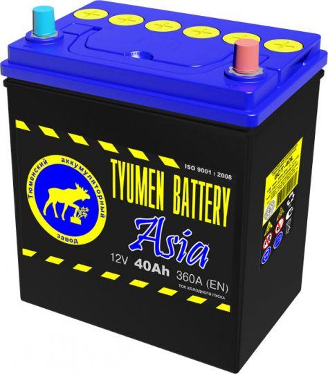 Автомобильный аккумулятор АКБ Тюмень (TYUMEN BATTERY) ASIA 6СТ-40L 40Aч O.П.