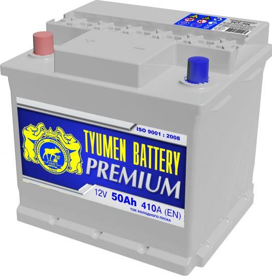 Автомобильный аккумулятор АКБ Тюмень Премиум (TYUMEN BATTERY) PREMIUM 6СТ-50L 50Aч П.П.