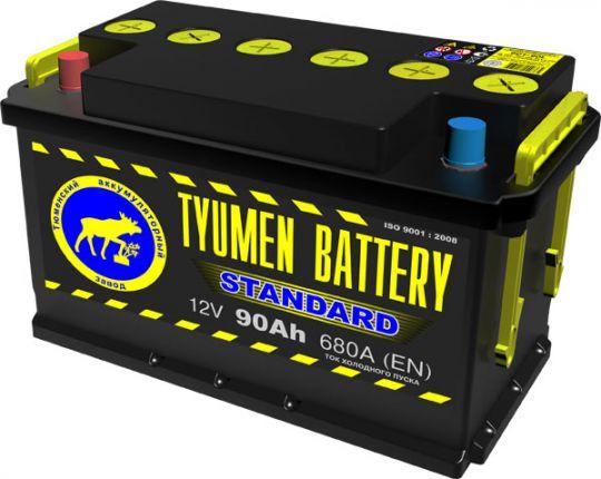 Автомобильный аккумулятор АКБ Тюмень (TYUMEN BATTERY) STANDARD 6CT-90L 90Aч П.П.