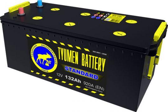 Автомобильный аккумулятор АКБ Тюмень (TYUMEN BATTERY) STANDARD  6CT-132L 132Aч П.П. (4) (росс.)
