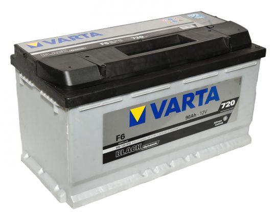 Автомобильный аккумулятор АКБ VARTA (ВАРТА) Black Dynamic 590 122 072 F6 90Ач ОП