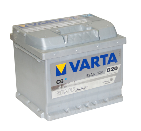 Автомобильный аккумулятор АКБ VARTA (ВАРТА) Silver Dynamic 552 401 052 C6 52Ач ОП