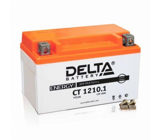 Мото аккумулятор АКБ Delta (Дельта) CT 1210.1 п.п. YTZ10S