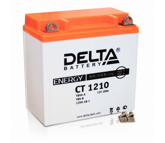 Мото аккумулятор АКБ Delta (Дельта) CT 1210 п.п. YB9A-A, YB9-B