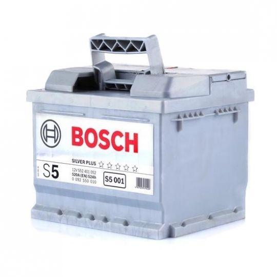Автомобильный аккумулятор АКБ BOSCH (БОШ) S5 001 / 552 401 052 S5 Silver Plus 52Ач о.п.