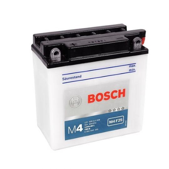 Мото аккумулятор АКБ BOSCH (БОШ) M4F 250 / M4 F25 moba 12V 509 014 008 A504 FP 9Ач п.п. (12N9-4B-1, YB9-B)