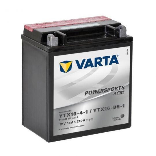 Аккумулятор для мототехники Varta 7Ач Moto AGM 507 901 012 (YT7B-BS) - фото 11