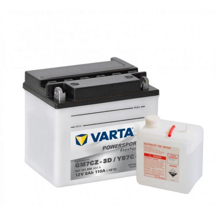 Аккумулятор для мототехники Varta 8Ач Moto AGM 508 901 015 (YTZ10S-BS) - фото 3
