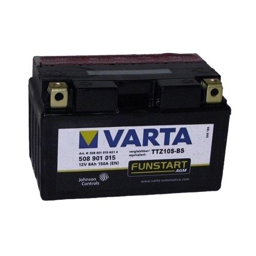 Аккумулятор для мототехники Varta 8Ач Moto AGM 508 901 015 (YTZ10S-BS) - фото 2