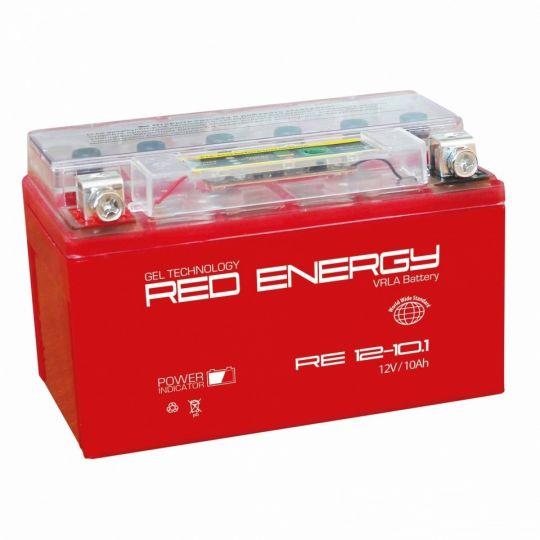 Аккумуляторная батарея АКБ RED ENERGY (РЭД ЭНЕРДЖИ) GEL RE 1210.1 YTZ10S 10Ач п.п.