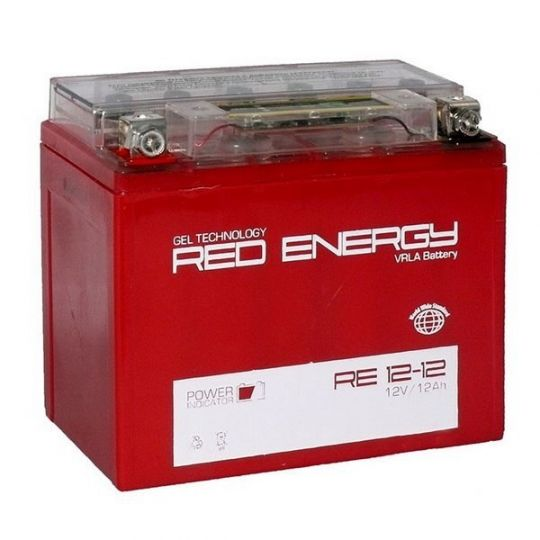 Аккумуляторная батарея АКБ RED ENERGY (РЭД ЭНЕРДЖИ) GEL RE 1212 YTX14-BS, YTX12-BS 12Ач п.п.