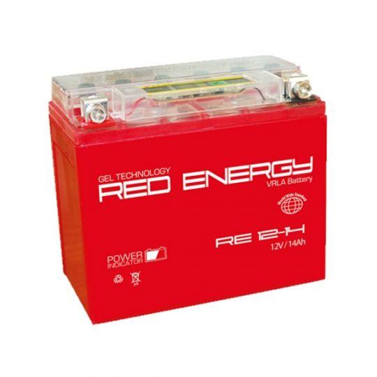 Аккумуляторная батарея АКБ RED ENERGY (РЭД ЭНЕРДЖИ) GEL RE 1214 YTX14-BS, YTX14H-BS, YTX16-BS, YB16B-A 14Ач п.п.