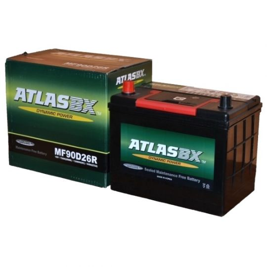 Автомобильный аккумулятор АКБ ATLAS (Атлас) MF90D26R 72Ач п.п.