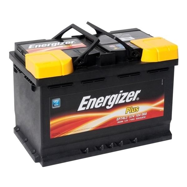 Автомобильный аккумулятор АКБ Energizer (Энерджайзер) PLUS EP74L3 574 104 068 74Ач о.п.